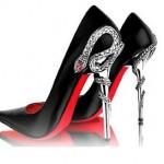 Yilan Desenli Sivri Burun Ayakkabi 150x150 İddialı Sivri Topuklu Modelleri